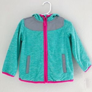 Girls Weatherproof Hooded Zip Fleece Jacket
